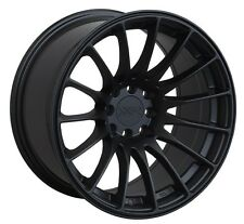 XXR 550 18X9.75 Rim 5x100/114.3 +19 Black Wheels Fits 350z G35 240sx Rx8 Rx7 Tsx