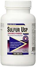 Humco Sulfur Sublimed powder (Flowers) 4 oz.