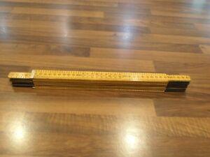 Vintage Rabone & Chesterman Boxwood folding 2m ruler No 1641