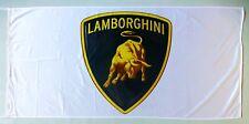 LAMBORGHINI FLAG WHITE - SIZE 150x75cm (5x2.5 ft) - BRAND NEW