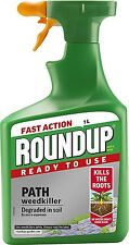 Roundup Fast Action Drive Patio Path Weed Killer Spray Ready to Use 1L Bottle
