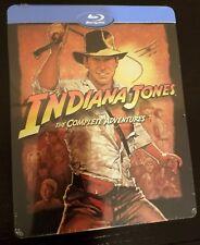 INDIANA JONES 4-Movie Complete Adventures Collection BluRay STEELBOOK Import