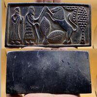Wonderful Old unique sassanian carving stone rare tile relief