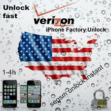 USA Verizon unlock - iPhone 3G/3GS/4/4S/5/5S/5C/6/6plus