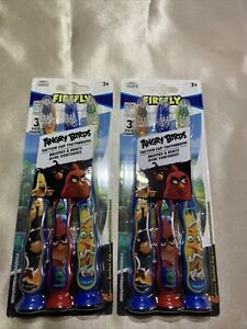 FIREFLY Angry Birds 2-3Pack Suction Cup Toothbrushes Total Of 6 Brushes
