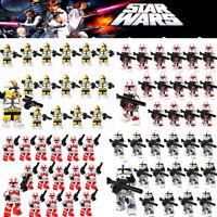 16x Clone Wars Star Wars Clone Troopers Mini Figures Brand New