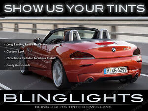 BMW Z-Series 007 Tinted Tail Lights Overlays Smoked Lamps Film Protection Kit