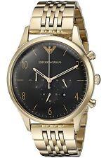 Emporio Armani Classic Black/Gold Stainless Steel Quartz Men's Watch AR1893