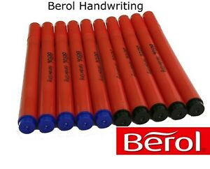 Berol Handwriting Pens Available in Blue or Black Medium Nib School Office