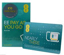 EE £10 Data Pack Sim Card - Standard/Micro/Nano all in one (Buy 1 Get 1 Free)