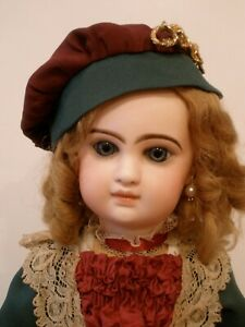 """Antique 20""""French Jumeau closed mouth Emile Douillet doll,original body"""