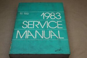 1983 Dodge Ram Van/Wagon Technical Service Manual Vans Wagons Voyager