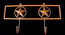 Vtg Wrought Iron Texas Lone Star Coat Hook Gun Rack Cowboy Western decor unique