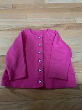 Hanna Andersson Girls 90 3 Pink Pearl Snap Cardigan Jacket EUC