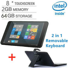 8Inch HD 2GB+64GB Tablet Computer PC Quad-Core Windows10 Movable Keyboard Laptop
