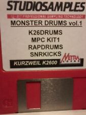 KURZWEIL ~ K2600 MONSTER DRUMS vol.1 ~ AWESOME RADIO READY DRUM PROGRAMS!!!!!!!!