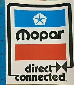Vintage MOPAR Direct Connection Racing Decal 1970