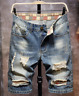 Men's Denim Shorts Distressed Ripped Half Pants Jeans Casual Shorts Trousers US
