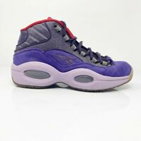 Reebok Mens Question Mid V61429 Ink Purple Running Shoes Lace Up High Top Sz 8.5