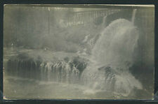 OR Butte Falls RPPC 1910 MILL RACE & DAM OUTLET Saw Mill LOG FLUME One of Kind