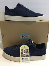 Toms Lenox Mens Lace Up Shoes Navy Size 10.5 New
