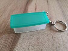 Tupperware Prima Klima klar/ grün Schlüsselanhänger Pillendose Miniatur