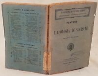 PLATONE L'APOLOGIA DI SOCRATE TESTO GRECO NOTE LATINO 1921 LETTERATURA CLASSICA