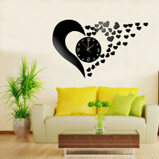 3D Mirror Wall Clock Mute Wall Stickers for Living Room Bedroom Home Decor