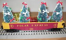 LIONEL POLAR EXPRESS CHRISTMAS TREE GONDOLA PRESENTS O GAUGE TOY TRAIN CAR 30184