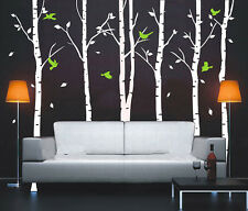 6pcs 260cm Hight Big Trees Birds Vinyl Wall Paper Decal Art Sticker T103