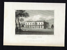 SOUTHWICK PARK, HAMPSHIRE -Great Britain Illustrated Engraving 1831