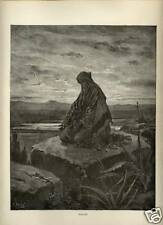 Stampa Antica = 1870= BIBBIA= ISAIA = Gustave DORE' = Old Print