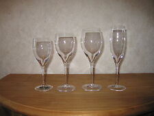 CRIST. ROYALES DE CHAMPAGNE *NEW* ESSOYES Set 4 Verres Glasses