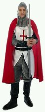 MENS ADULT KNIGHT ST GEORGE/ENGLAND/CRUSADER/FOOTBALL FANCY DRESS OUTFIT NEW