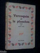 Boris Vian  E/O Service de Presse Vercoquin et le Plancton 1946 Rare