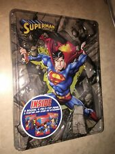 Superman tin collector's set w/ poster stickers sketch coloring & activity Books