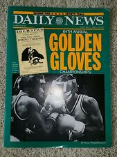 JERSEY JOE WALCOTT SIGNED Golden Gloves Championship program from 1990 AUTOGRAPH