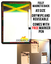 JAMAICA FOOD A5 MAGNETIC MEMO BOARD MESSAGE NOTE KITCHEN FRIDGE WITH DRYWIPE PEN