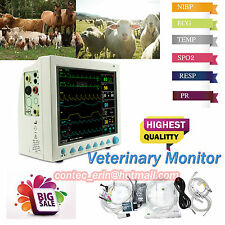 6-para TFT Veterinary Monitor NIBP SPO2 PR ECG EKG TEMP RESP FOR VET PET animal