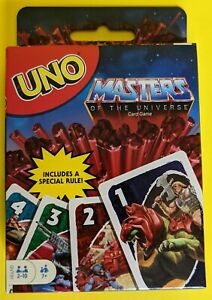 Masters of the Universe UNO card game with unique rule 2021 Mattel MOTU