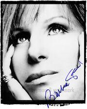 "Barbra Streisand 8""x10"" Autographed Black & White Photo - RP"