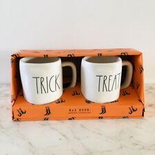RAE DUNN 2019 LL Halloween Mug Set - TRICK & TREAT