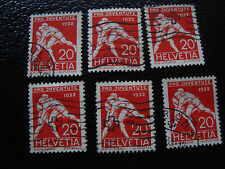 SUISSE - timbre yvert et tellier n° 265 x6 obl (A14) stamp switzerland