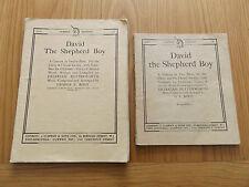 "1900s ""DAVID THE SHEPHERD BOY"" - A Cantata in Twelve Parts MUSIC SCORE + LYRICS"