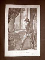 Re Francesco II di Borbone Incisione del 1881 Dinastia di Savoia Oscar Pio