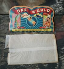 Vtg Unised One World Sewing Needles Advertising Booklet Gold Eyed Made n Japan H
