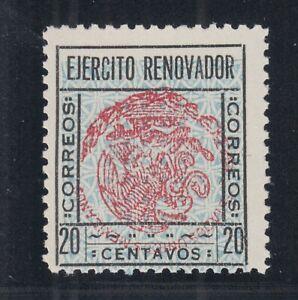 Mexico, Sinaloa Sc 2, MNH. 1929 20c black, red & gray CoA, INVERTED CENTER Error