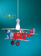 Biplano aereo Rosso lampada camera cameretta bambini sospensione
