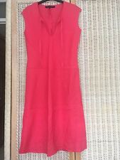french Connection Red Linen Dress self tie size m