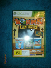 Worms Collection (Microsoft XBOX 360, 2012) PAL turn based combat games